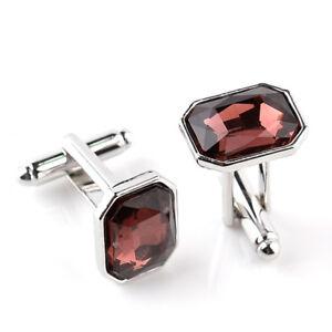 Geometric Type Square Zircon Alloy Cufflink Jewelry Wedding Party Gift