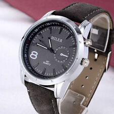 Faux Leather Band Gloss Sport Adult Wristwatches