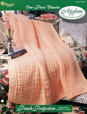 Peach Perfection Afghan, One-Piece Classics crochet pattern leaflet
