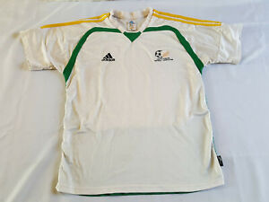 Vintage Adidas ClimaCool South African Football Men's S Small Jersey White Green