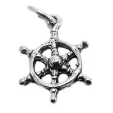 925 Sterling Silver 3D Ship's Wheel Charm