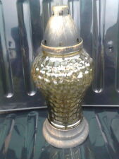 smoked glass pot pourri jar, essence jar. removable top and base. flower vase.