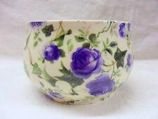 Blue Ivy Rose diseño azucarera abierta por Heron Cross Pottery