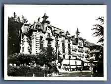 France, saint gervais les Bains, mont joly palace vintage silver print. high