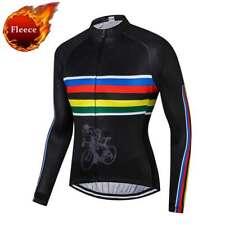 Men's Fleece Cycling Jersey Long Sleeve Thermal Winter Cycle Biking Shirt Jacket