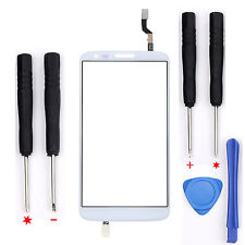 Outer Touch Screen Digitizer Glass Lens Replacement For LG G2 D802 D805 White