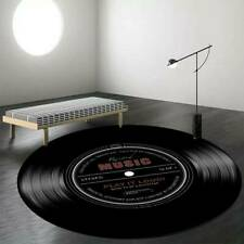 Us Record Music Disc Pattern Carpet Soft Round Blanket Non-Slip Mat Cd Area Rug