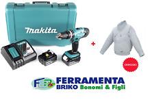 Trapano avvitatore a percussione Makita DHP453RFE con caricabatterie +2 BAT 18v