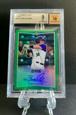2016 Leaf Metal Draft ZACK COLLINS Green Prismatic RC Auto 3/7 WhiteSox BGS 9 10