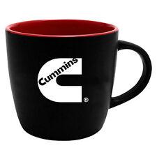 Cummins coffee cup mug red black 12 oz diesel ceramic tea drink office cumming
