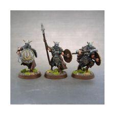 Games Workshop LotR 3 Dunlending Warriors with spear, shield METAL RARE (UM)