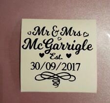 Personalised Wedding Mr & Mrs Adesivo per tabella Decorazioni/favore BARATTOLO/regalo fai da te
