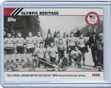 2014 TOPPS OLYMPIC OPENING CEREMONY / HERITAGE CARD OH-4 ~ 1936 GERMANY ~ HOCKEY