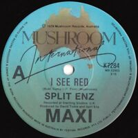 Split Enz ORIG OZ Maxi 45 I see red NM '78 Mushroom K7284 New wave