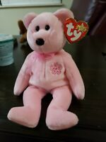 RARE Ty Beanie Babies SAKURA Bear (Retired) tag errors and TAGS in Japanese