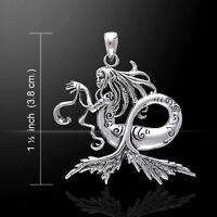 Amy Brown Dark Water Fairy Mermaid .925 Sterling Silver Pendant by Peter Stone