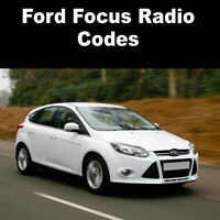 Ford Focus Stereo Codes PIN Car Unlock Radio Code Fast Service 6000cd, V Series