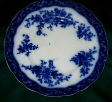 Vintage Flow Blue TOURAINE Pattern Plate - St. Wiley/Stanley Pottery-England