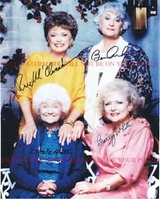 THE GOLDEN GIRLS CAST SIGNED AUTOGRAPHED 8x10 RP PHOTO BETTY WHITE BEA ARTHUR +
