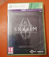 XBOX 360 GAME THE ELDER SCROLLS V SKYRIM LEGENDARY EDITION WITH MAP & MANUAL
