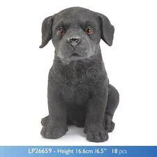 Leonardo Black labrador Puppy studies dog ornament figurine LP26659