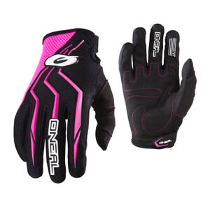 O'Neal Womens & Youth Black/Pink Element Dirt Bike Gloves MX ATV 2019