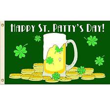 3x5 Happy St Patricks Day Flag 3'x5' Ireland Beer house banner Polyester Nylon