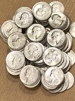 Lot Of 120 Washington Silver Quarters. High Grade BU Beautiful Coins. $30 FV. #1