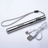 Waterproof USB Rechargeable LED Flashlight Lamp Pocket Penlight Mini Torch