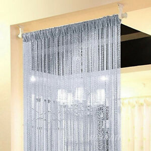String Door Curtain Beads Divider Window Panel Tassel Crystal Fringe Decor Home