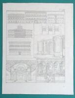 ARCHITECTURE Rome Palace Farnese Strozzi Pope Perugia  - 1828 Antique Print