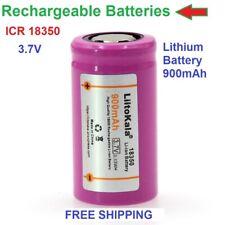 ICR 18350 Battery 900mAh Rechargeable Batteries 3.7V li-lon lot