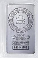 Royal Canadian Mint (RCM) 10 Oz .9999 Fine Silver Bar SKU32137