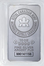 Royal Canadian Mint (RCM) 10 Oz .9999 Fine Silver Bar SKU32137