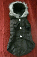 New listing New Black Medium Dog Hooded Coat/Jacket Quilted Water Resistant #97 Pet Signatur