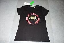 H&M x Kenzo T-Shirt With Appliqués Black Women's Small