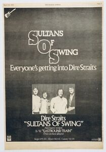 DIRE STRAITS 1979 original POSTER ADVERT SULTANS OF SWING