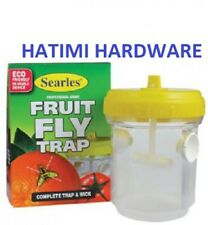 FRUIT FLYTRAP Searles WITH WICK PROFESSIONAL FRUIT FLY WASP CATCHER YELLOW TRAP