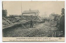 Catastrophe de Courville. 1911. Train rapide Paris Renne Tamponne train de march