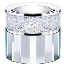 New Large Swarovski Crystal Filled Tea Light Candle Holder Clear/Transparent