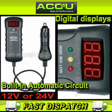 Anillo rba3 12v 24v Pantalla Led Digital Voltímetro con coche Dc Plug Probador de baterías
