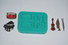 Silicone mold mould sugarcraft cake musical instrument