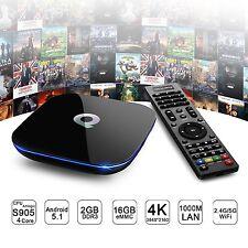 Q-BOX TV Box 4K 1000M Ethernet 2G+16G 2160P Android 5.1 Quad-core Dual WiFi S905