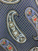 Ermenegildo Zegna Mens Silk Paisley Multi Color Necktie Suit Wear Tie K