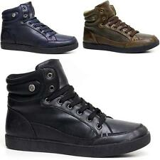 Mens Hi Tops Trainers New Designer Chunky Fashion Branded Ankle Boots Shoes Size