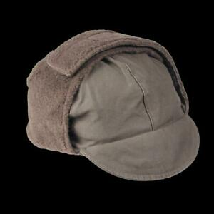 GERMAN MILITARY ARMY OD GREEN COLD WEATHER WINTER CAP/HAT EAR FLAPS