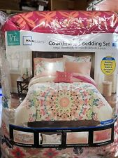 Mainstays Coral Medallion 6 Piece Bed in a Bag Set with Sheets and Decor Pillow,