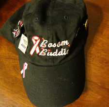 BREAST CANCER BLACK PINK RIBBON AWARENESS bosom buddies with 4  pins