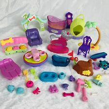 LPS Littlest Pet Shop Furniture & Accessories Lot Treats, House, Bathtub, Table