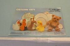 Easter 1971 Steiff Realistic Plush Animals Toy Brochure Button in Ear Brand
